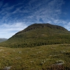 Bergpanorama in Lappland, Schweden