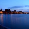 Rostock Stadthafen Panorama zur blauen Stunde